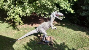 Dinosaur on the yard of home for sale in Cumming GA