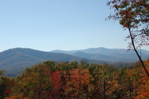 Blue Ridge Georgia fall foliage photo