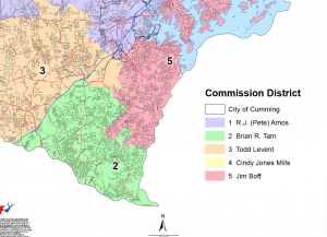Forsyth County GA District Map - County Commissioner