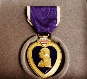 Purple heart medal military award