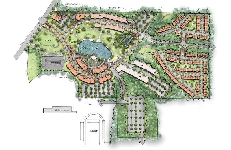 Architectural rendering of the planned Cumming GA City center development