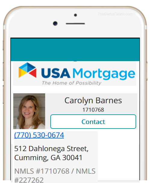 Get-Preapproved Carolyn Barnes, Lender USA Mortgage